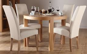 Round Oak Dining Table And  Chairs - Round dining room tables for 4