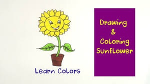 how to draw sunflower coloring pages youtube videos for kids