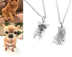 dog necklace silver images Custom pet necklace etsy jpg