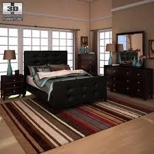 ashley carlyle upholstered bedroom set 3d model cgtrader