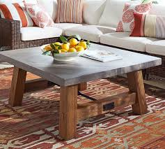 Pottery Barn Connor Coffee Table - abbott concrete top square coffee table pottery barn home