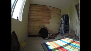 Wall Wood Paneling by Time Lapse Of Me Staining My Son U0027s Wood Paneled Accent Wall