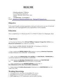 Electrical Supervisor Resume Sample Electrical Resume Electrical Supervisor Resume Resume Muhammad