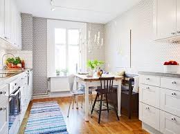 kitchen wallpaper designs ideas 15 modern kitchen designs with geometric wallpapers rilane