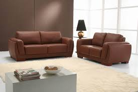 Living Rooms With Dark Brown Leather Furniture Furniture Awesome Small Brown Leather Couch For Your Lovely