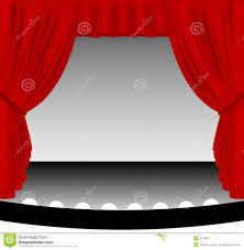 red stage curtain stock photo image 574330