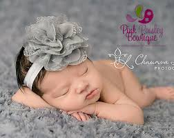 infant headbands baby headbands pink gray newborn headband baby girl