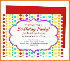 birthday party invitation template word resumess memberpro co