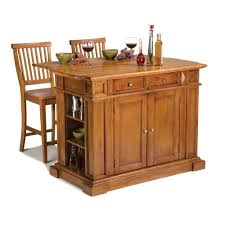 kitchen island table with stools home styles americana distressed cottage oak kitchen island with