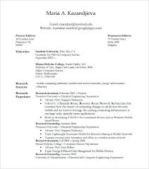 Resume For Computer Science Phd Student Resume Cvlook03 Billybullock Us