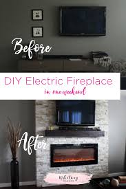 Electric Fireplace For Wall by Diy How To Build A Fireplace In One Weekend Whitney Hansen
