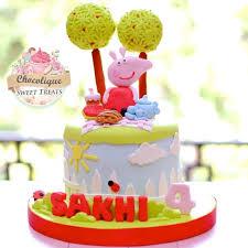 peppa pig cakes peppa pig cake for sakhi chocolique