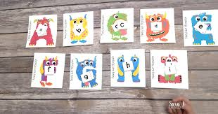 feed the monster alphabet match sara j creations