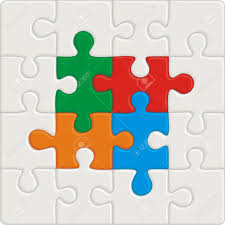 many colored puzzle pattern removable pieces royalty free