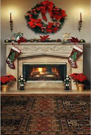 attractive christmas photography backdrops fashion fireplace