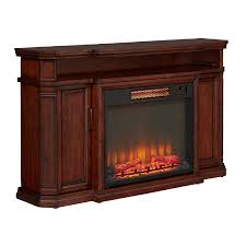 shop emberhearth 60 in w 5000 btu brown wood flat wall infrared
