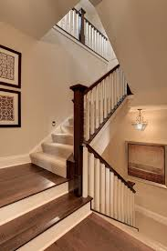 hardwood stair carpet runner staircase traditional with white