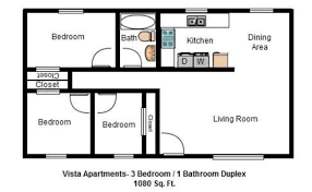 Duplex Floor Plans 3 Bedroom by Vista Apartments Duplexes Affordable Apartments Lynchburg