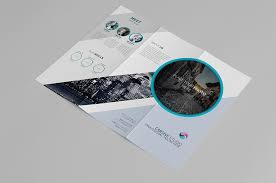 creative trifold brochure template free design resources