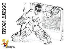 hockey goalie coloring pages free printable hockey coloring pages