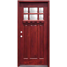 pacific entries 36 in x 80 in craftsman 6 lite stained mahogany