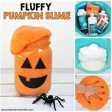 fluffy pumpkin slime i heart arts n crafts