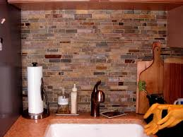 interior amazing natural stone subway tile backsplash combine