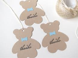 teddy bear baby shower favor tags boy baby shower thank you tags