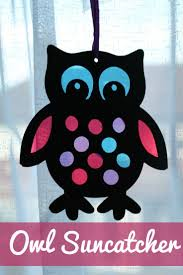 stained glass style owl sun catcher glasses style catcher and owl