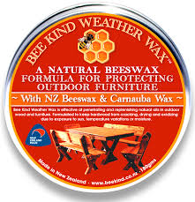 How To Protect Outdoor Wood Furniture by Bee Kind Weather Wax