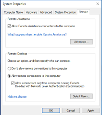 windows 10 remote desktop setup cis computing support rit wiki