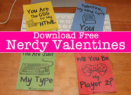 nerdy s day cards free nerdy valentines day cards printable and for your