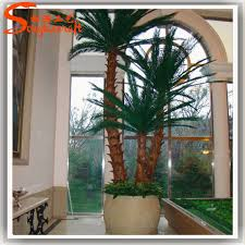 nearly nature cheap top quality artificial ornamental indoor palm