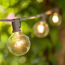 globe string lights brown wire 2 inch e12 bulbs 50 foot brown wire c7 strand clear white globe