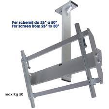 porta tv soffitto staffa a soffitto per schermi tv da 26 a 50 pollici con attacco