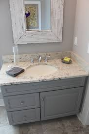 Painted Vanities Bathrooms Good Color For Bottom Cabinets With Creamy White On Top Distress