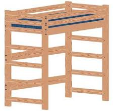 Free Bunk Bed Plans Twin by 33 Best Loft Beds Images On Pinterest 3 4 Beds Loft Bed Plans