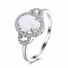 opal wedding ring beautiful simple oval jewelry white opal wedding ring for