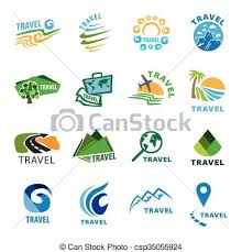 Travel logo template set of vector logos for travel and leisure