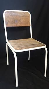new french industrial retro vintage metal wooden chair dining chic
