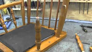Broken Rocking Chair How To Repair A Rocking Chair Youtube