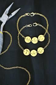 diy gold bracelet images Stamped initial bracelet diy a beautiful mess