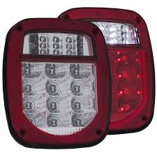 Jeep Tj Led Tail Lights Anzo Usa Jeep Wrangler 76 06 L E D Tail Light Kit L E D Tail