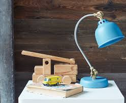 Bed Lamp Mini Gaston Lamp Small Blue Bedside Lamp Loaf