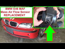 bmw maf sensor bmw e46 maf mass air flow sensor removal and replacement in 2