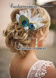 peacock headband heart shaped peacock feather headband feather bridal hair