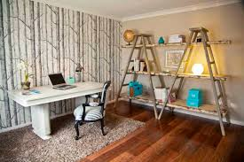 bedroom ladder shelves as ideas for shelving in dining room with