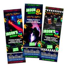 laser tag lazer birthday party invitation ticket custom photo