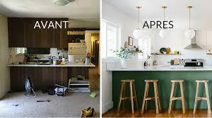 cuisine avant apr鑚 renovation cuisine bois avant apres cuisine avec verrire