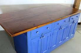 kitchen island made from reclaimed wood crafted blue kitchen island from reclaimed wood by